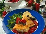 Gebratener Seelachs mit pikanter Erdbeersoße Rezept