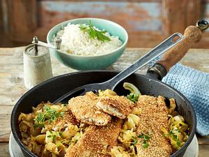 Gebratenes Fischfilet auf Spitzkohl Rezept