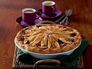 Gedeckte Cranberry-Apfel-Pie Rezept