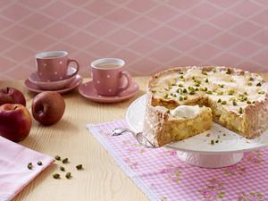 Gedeckter Apfel-Birnen-Kuchen (Backschule) Rezept