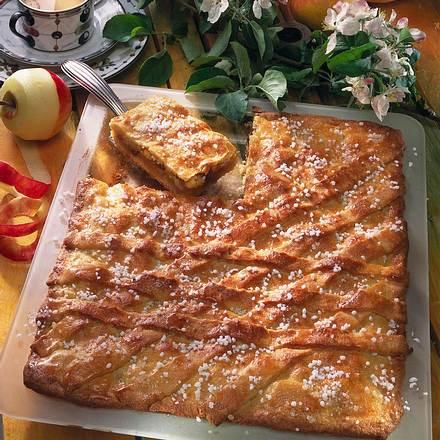 Gedeckter Apfelkuchen Vom Blech Rezept Lecker