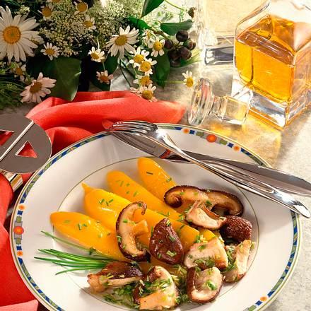 Gedünstete Paprika mit Pilzen Rezept