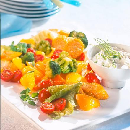 Gedünstetes Gemüse mit Kräuterquark Rezept