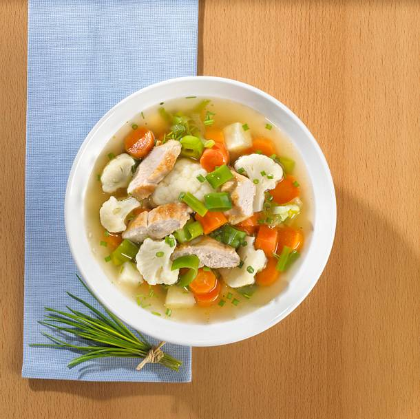 Geflügel-Gemüse-Suppe  Rezept