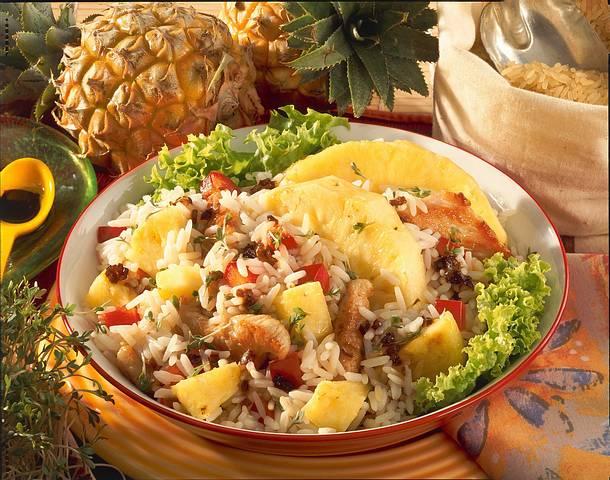 Geflügel-Reis-Salat mit Ananas Rezept