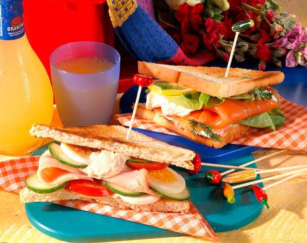 Geflügel und Lachs-Sandwich Rezept