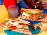 Geflügel- & Lachs-Sandwiches Rezept