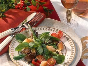 Geflügelleber auf Feldsalat Rezept