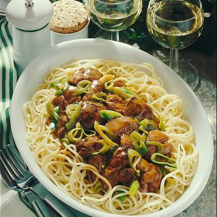 Geflügelragout mit Spaghetti Rezept