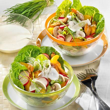 Geflügelsalat mit Joghurt-Dressing Rezept