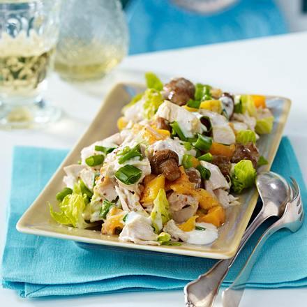 Geflügelsalat mit Mango und Pilzen Rezept