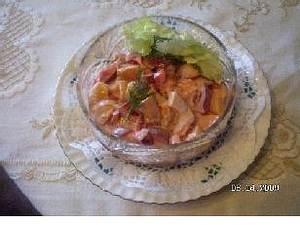 Geflügelsalat mit pikanter Soße Rezept