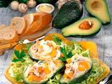 Gefüllte Avocados mit Geflügelsalat Rezept