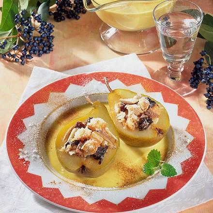 Gefüllte Birnen auf Mascarpone-Soße Rezept