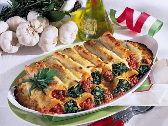 Gefüllte Cannelloni mit zweierlei Füllung Rezept