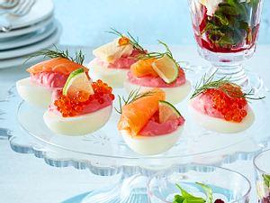 Gefüllte Eier mit Rote-Bete-Creme Rezept
