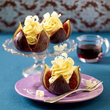 Gefüllte Feigen mit weißer Schokoladen-Mousse Rezept