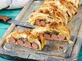 Gefüllte Hot Dog-Rolle Rezept