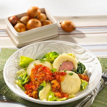 Gefüllte Kartoffelklöße mit Mett Rezept