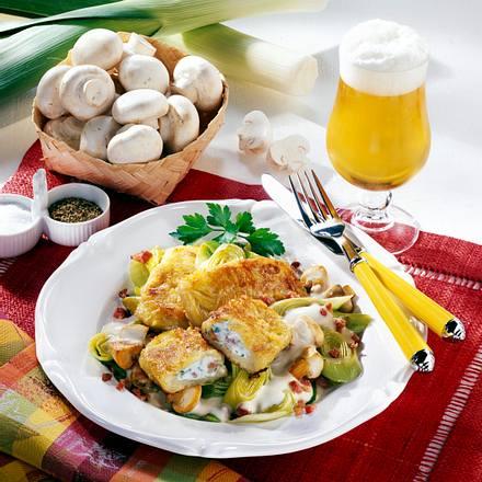 Gefüllte Kartoffeltaschen auf Gemüse-Bett Rezept