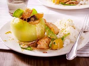 Gefüllte Kohlrabi mit Lachs-Curry Rezept