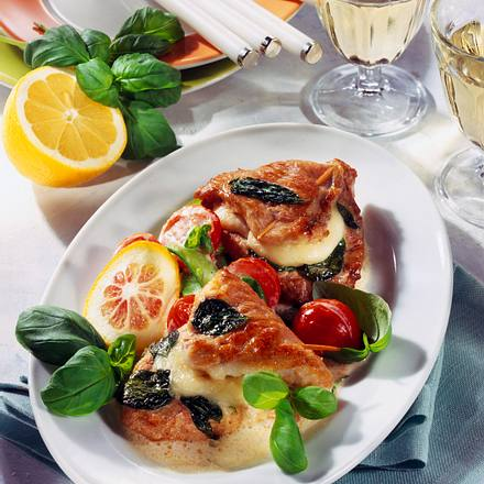 Gefüllte Mozzarella-Schnitzel Rezept