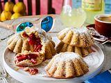 Gefüllte Mürbeteig-Küchlein mit Erdbeeren Rezept