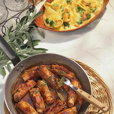 Gefüllte Muschelnudeln mit feinem Hähnchenragout Rezept