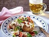 Gefüllte Ofenkartoffel mit Kasseler Rezept