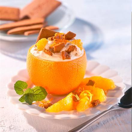 Gefüllte Orange mit Quarkcreme Rezept