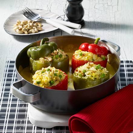 Gefüllte Paprika mit Currysoße Rezept