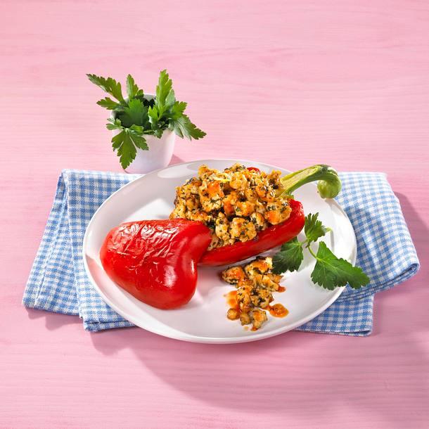 Gefüllte Paprika mit Putenbrust Rezept