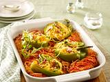 Gefüllte Paprika mit Spaghetti Rezept