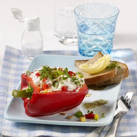 Gefüllte Paprikaschote mit Gemüse-Quark Rezept