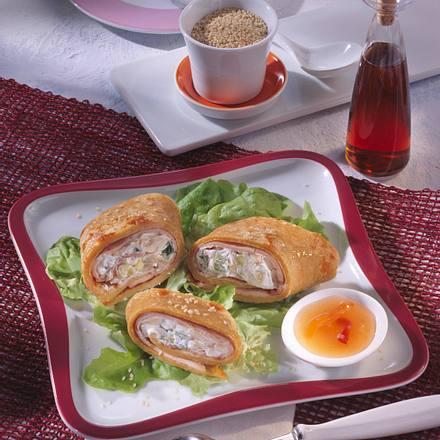 Gefüllte Pfannkuchen-Rollen Rezept