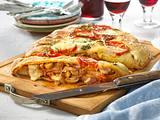 """Gefüllte Pizza """"prosciutto e funghi"""" Rezept"""