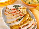 Gefüllte Putenbrust mit Spinat und Pinienkernen Rezept
