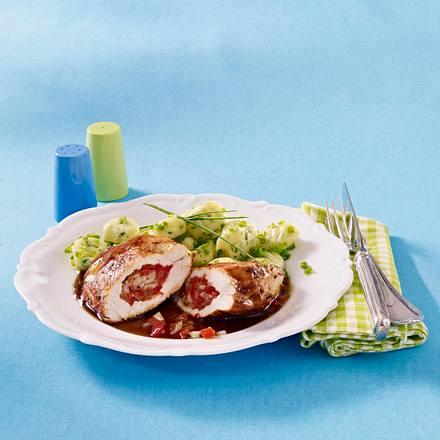 Gefüllte Putenschnitzel mit Kräuter-Gnocchi Rezept