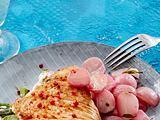 Gefüllte Putenschnitzel mit Rosmarin-Radieschen Rezept