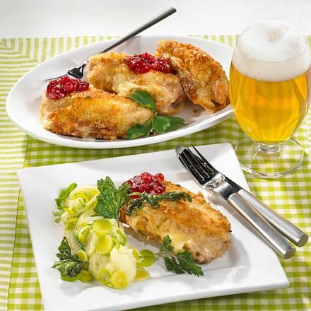 Gefüllte Schnitzel mit Camembert Rezept