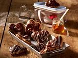 Gefüllte Schoko-Lebkuchen-Herzen Rezept