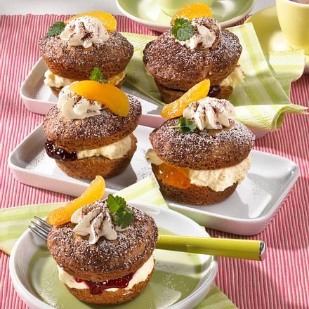 Gefüllte Schoko-Muffins Rezept