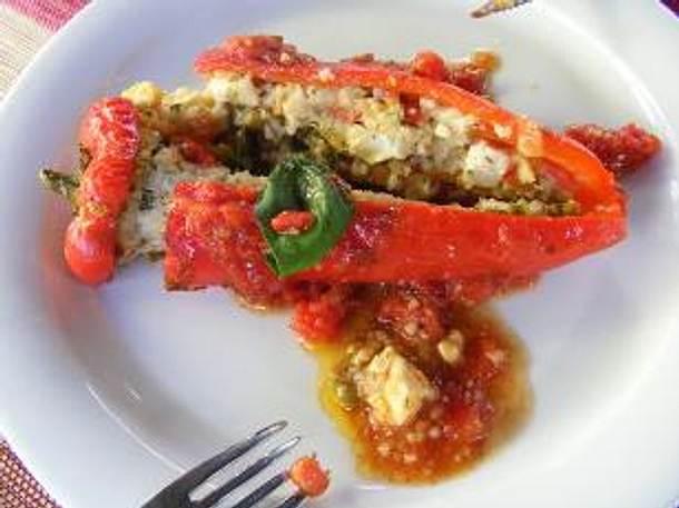 Gefüllte Spitzpaprika mit Couscous und Schafskäse Rezept