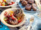 Gefüllte SteakPinwheels zu Tomatensalat Rezept