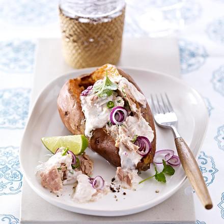 Gefüllte Süßkartoffeln mit Thunfisch-Salat Rezept