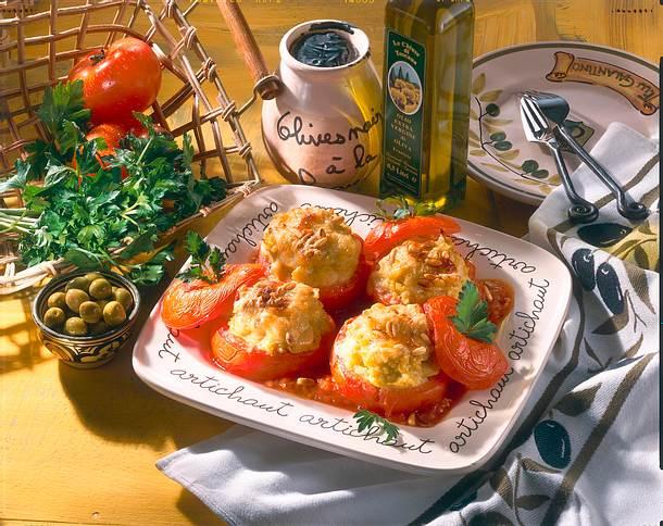 Gefüllte Tomaten mit Oliven-Püree Rezept