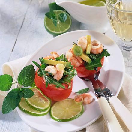 Gefüllte Tomaten mit Shrimps-Salat Rezept