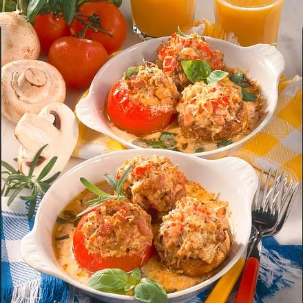 Gefüllte Tomaten und Champignons Rezept
