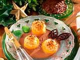 Gefüllte, überbackene Aprikosenhälften Rezept
