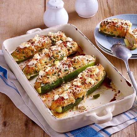 Gefüllte Zucchini mit Quinoa Rezept